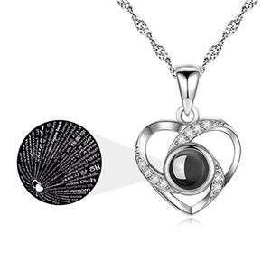 Jewelry - 2/$25 925 Silver I Love You 100 Language Necklace